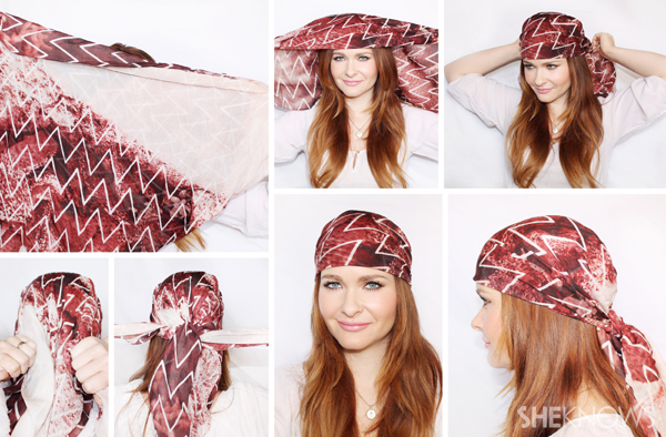 Quickie tutorials to reinvent your look with one scarf, 10 new ways