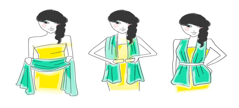 How To Wear Scarf With Tube Dress