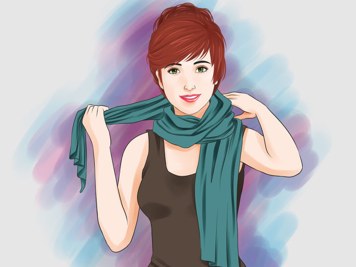 Image titled Tie a Scarf Around the Neck Step 2