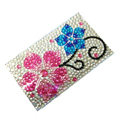 Flower 1 Crystal Bling Diamond Rhinestone Jewellery stickers for mobile phone cases covers - Red