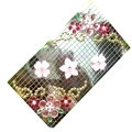 Flower 3 Crystal Bling Diamond Rhinestone Jewellery stickers for mobile phone cases covers - Pink