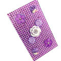 Flower 3D Crystal Bling Diamond Rhinestone Jewellery stickers for mobile phone cases covers - Purple