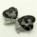 Bling Bowknot Alloy Crystal Rhinestone DIY Phone Case Cover Deco Den Kit - Black