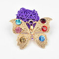 Bling Butterfly Alloy Crystal Rhinestone DIY Phone Case Cover Deco Den Kit - Gold