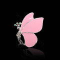 Bling Butterfly Alloy Crystal Rhinestone DIY Phone Case Cover Deco Den Kit - Pink
