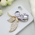 Bling Butterfly Alloy Metal Rhinestone Crystal DIY Phone Case Cover Deco Kit - Purple