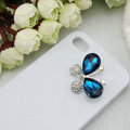Bling Butterfly Alloy Rhinestone Crystal DIY Phone Case Cover Deco Den Kit - Blue