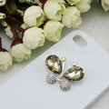 Bling Butterfly Alloy Rhinestone Crystal DIY Phone Case Cover Deco Den Kit - Champagne