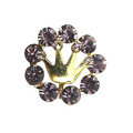 Bling Crown Alloy Rhinestone Crystal DIY Phone Case Cover Deco Kit 18mm - Purple
