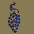 Bling Crystal Peacock Alloy Rhinestone Flatback DIY Phone Case Cover Deco Kit - Blue