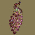 Bling Crystal Peacock Alloy Rhinestone Flatback DIY Phone Case Cover Deco Kit - Pink
