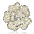 Bling Flower Alloy Crystal Rhinestone DIY Phone Case Cover Deco Kit 49*48mm - White