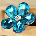 Bling Flower Alloy Rhinestone Crystal DIY Phone Case Cover Deco Kit 20mm - Blue