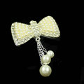 Bling Pearl Bowknot Alloy Crystal Rhinestone DIY Phone Case Cover Deco Kit - Beige