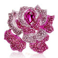 Bling Rose Flower Alloy Rhinestone Crystal DIY Phone Case Cover Deco Kit 75*80mm - Rose