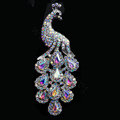 Luxury Bling Peacock Alloy Crystal Flatback DIY Phone Case Cover Deco Kit - Color