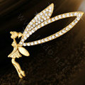 Bling Angel Alloy Crystal Rhinestone DIY Phone Case Cover Deco Kit 60*70mm - Gold