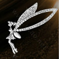Bling Angel Alloy Crystal Rhinestone DIY Phone Case Cover Deco Kit 60*70mm - White