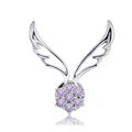 Bling Angel wing Alloy Crystal Rhinestone DIY Phone Case Cover Deco Kit - Purple