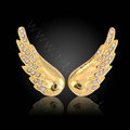 Bling Angel wing Alloy Rhinestone Crystal DIY Phone Case Cover Deco Kit 38*15mm - Gold