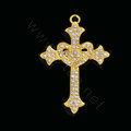 Bling Cross Alloy Rhinestone Crystal DIY Phone Case Cover Deco Kit 47*68mm - Gold