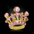 Bling Crown Alloy Crystal Rhinestone DIY Phone Case Cover Deco Kit 22*24mm - Pink