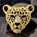 Bling Leopard Alloy Crystal Rhinestone DIY Phone Case Cover Deco Kit 46mm - Gold
