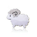 Bling Sheep Alloy Crystal Rhinestone DIY Phone Case Cover Deco Kit - White