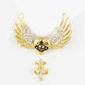 Bling Angel wings Alloy Crystal Rhinestone DIY Phone Case Cover Deco Den Kit 44*31mm - God