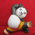 DIY Deco 3D doll Black Kung Fu Panda Plastic Resin Cell Phone Crystal Case Cover