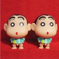 DIY Deco 3D doll Blue Crayon Shinchan Plastic Resin Cell Phone Crystal Case Cover