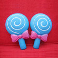 DIY Deco 3D doll Blue Lollipop Plastic Resin Cell Phone Crystal Case Cover