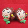 DIY Deco 3D doll Green Mermaid Resin Plastic Cell Phone Crystal Case Cover