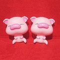DIY Deco 3D doll Pink Pig Plastic Resin Cell Phone Crystal Case Cover