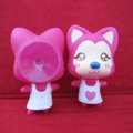DIY Deco 3D doll Rose Fox Plastic Resin Cell Phone Crystal Case Cover