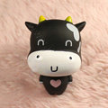DIY Deco Kit 3D Sucker doll Black milk Cow Bling Cell Phone Crystal Case Cover