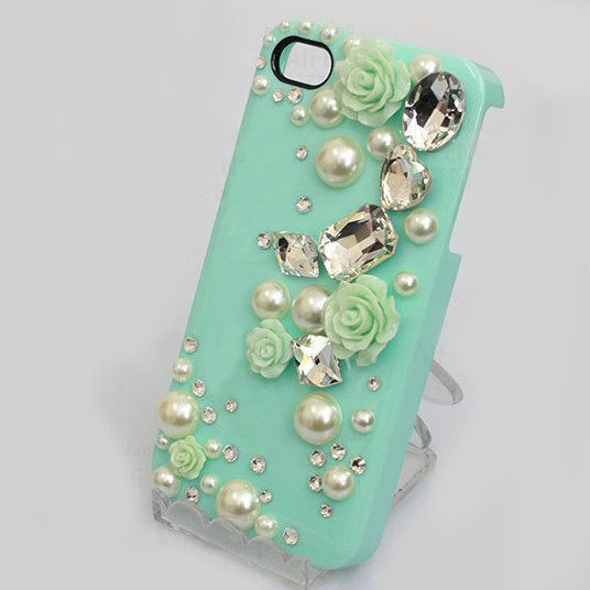 Buy Wholesale Bling Crystal Green Resin Flower Diy Cell
