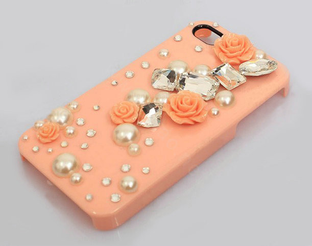 Buy Wholesale Bling Crystal Orange Resin Flower Diy Cell