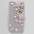 Bling Crystal purple resin Flower DIY Cell Phone Case shell Cover Deco Den Kit