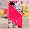 Camellia flower Bling Crystal Case Rhinestone Cover shell for OPPO finder X907 - Rose