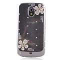 Flower Bling Crystal Case Rhinestone Cover for Samsung i9250 GALAXY Nexus Prime i515 - Clear