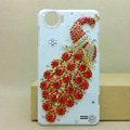 Peacock Bling Crystal Case Rhinestone Cover shell for OPPO finder X907 - Red