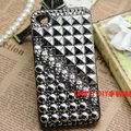 Skull Square Rivet Bling Crystal Metal DIY Cell Phone Case shell Cover Deco Den Kit