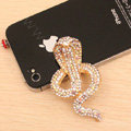 Alloy Cobra Crystal Metal DIY Phone Case Cover Deco Kit - Gold