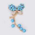 Alloy Dragonfly Crystal Metal DIY Phone Case Cover Deco Kit - Blue