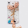Alloy Dragonfly Crystal Metal DIY Phone Case Cover Deco Kit - Pink