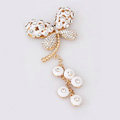 Alloy Dragonfly Crystal Metal DIY Phone Case Cover Deco Kit - White