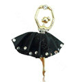 Ballet girl Alloy Crystal Metal DIY Phone Case Cover Deco Kit - Black