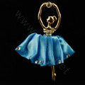 Ballet girl Alloy Crystal Metal DIY Phone Case Cover Deco Kit - Blue