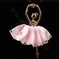 Ballet girl Alloy Crystal Metal DIY Phone Case Cover Deco Kit - Pink
